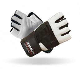 MADMAX Fitness rukavice PROFESSIONAL WHITE