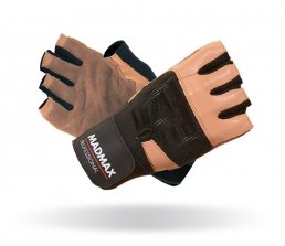 MADMAX Fitness rukavice PROFESSIONAL BROWN
