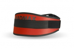 MADMAX Fitness opasek SIMPLY THE BEST red